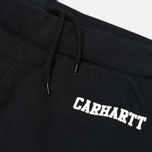 Carhartt WIP College Sweat Men`s Trousers Black/White photo- 1
