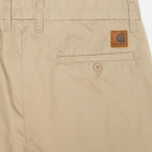 Мужские брюки Carhartt WIP Johnson Questa Twill Safari Rinsed фото- 1