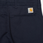 Мужские брюки Carhartt WIP Sid Lamar Stretch Twill Duke Blue Rinsed фото- 1