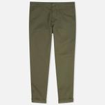Мужские брюки Carhartt WIP Sid Lamar Stretch Twill Leaf Rinsed фото- 0