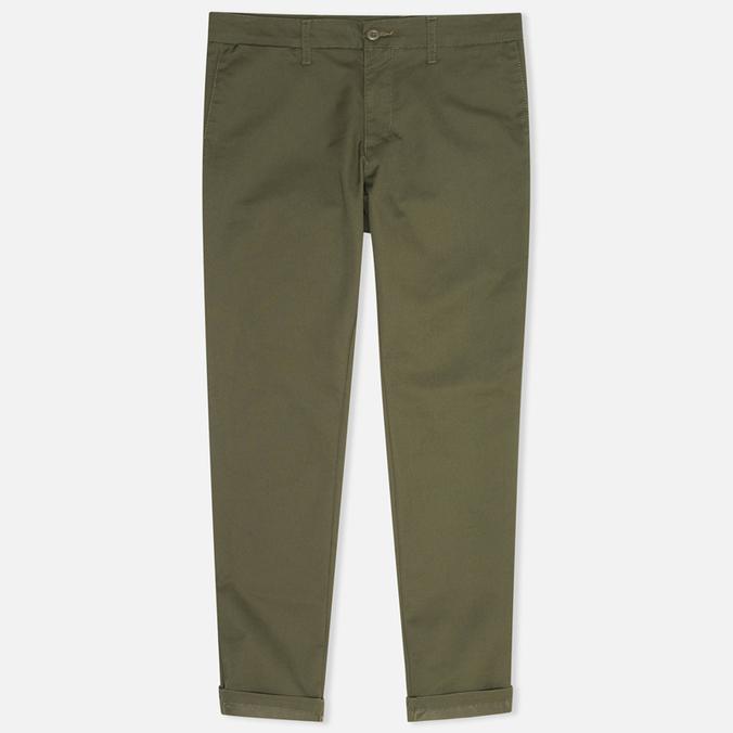 Мужские брюки Carhartt WIP Sid Lamar Stretch Twill Leaf Rinsed