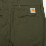 Мужские брюки Carhartt WIP Sid Lamar Stretch Twill Leaf Rinsed фото- 1