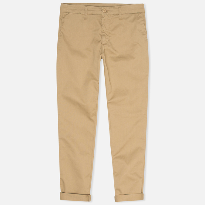 Мужские брюки Carhartt WIP Sid Lamar Stretch Twill Leather Rinsed