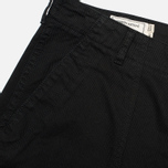 Maison Kitsune Cotton Serge Worker Men`s Trousers Black photo- 3