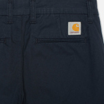 Женские брюки Carhartt WIP X' Sid Trabuco Stretch Twill Duke Blue Rinsed фото- 1