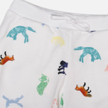 Женские брюки Maison Kitsune Jogg All Over Childish White фото- 1