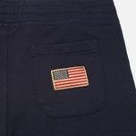 Woolrich Cuffed Fleece Men`s Trousers Navy photo- 1