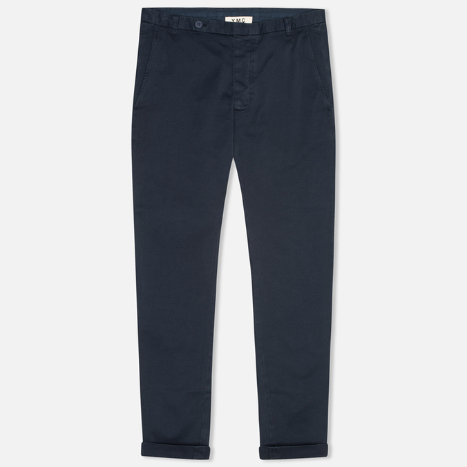 Мужские брюки YMC Slim Fit Slender Legged Navy