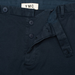 Мужские брюки YMC Slim Fit Slender Legged Navy фото- 2