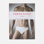 Мужские трусы Derek Rose Closed Jack Mid Brief White фото- 3