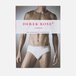 Мужские трусы Derek Rose Closed Jack Mid Brief White фото- 3