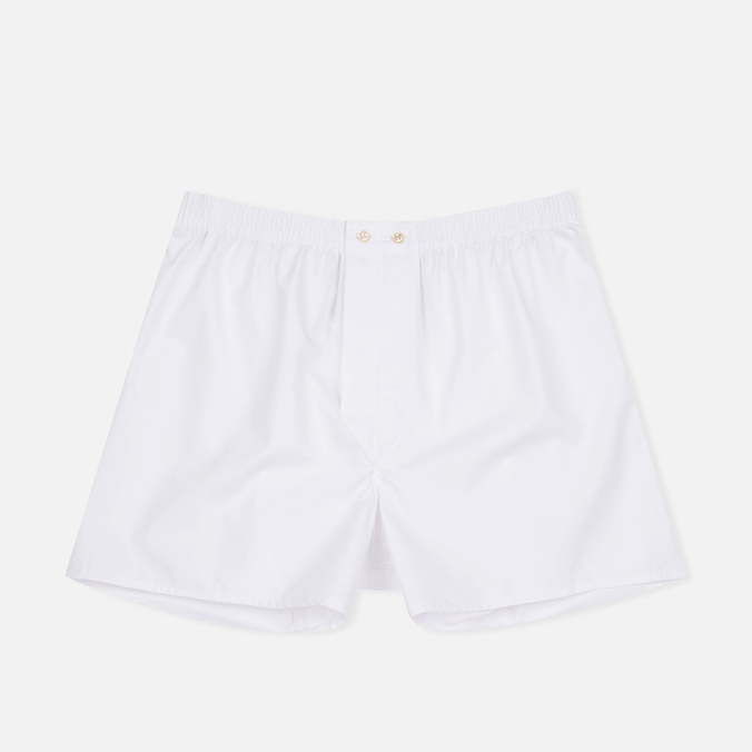 Derek Rose Savoy Classic Fit Men's Boxer Shorts White