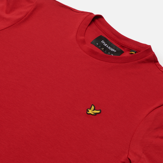 Мужская футболка Lyle & Scott Plain Crew Neck Chilli Pepper Red
