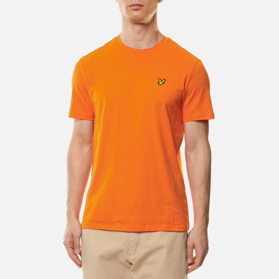 Мужская футболка Lyle & Scott Plain Crew Neck Risk Orange