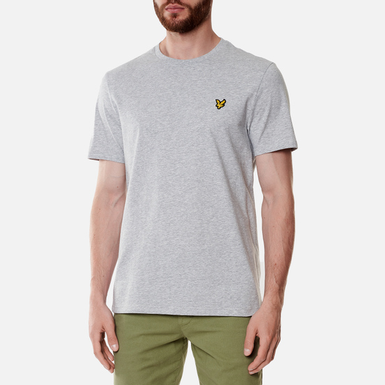 Мужская футболка Lyle & Scott Plain Regular Fit Light Grey Marl