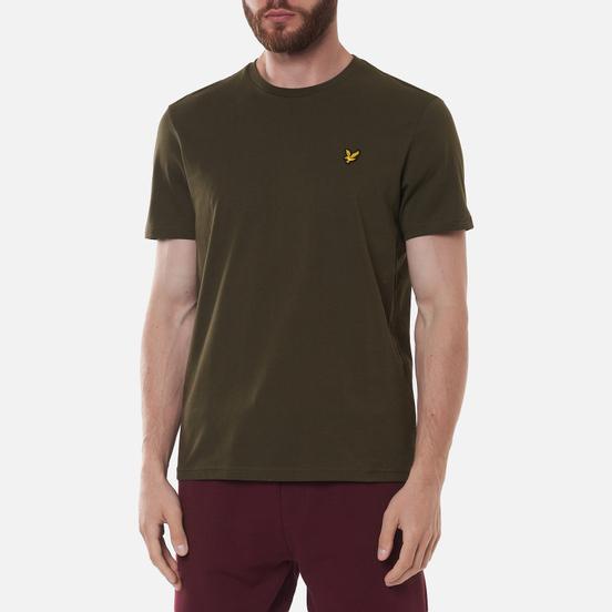 Мужская футболка Lyle & Scott Plain Regular Fit Trek Green