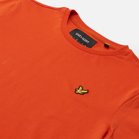 Мужская футболка Lyle & Scott Plain Regular Fit Burnt Orange