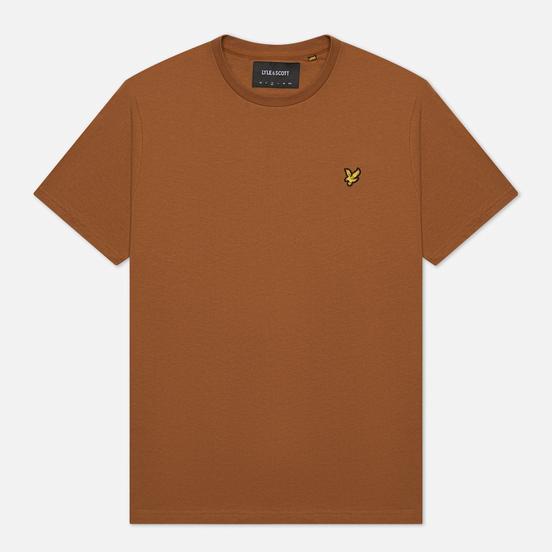 Мужская футболка Lyle & Scott Plain Regular Fit Tawny Brown