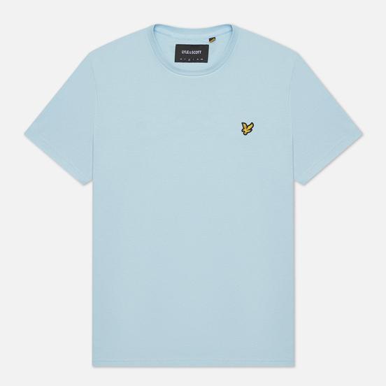 Мужская футболка Lyle & Scott Plain Regular Fit Deck Blue