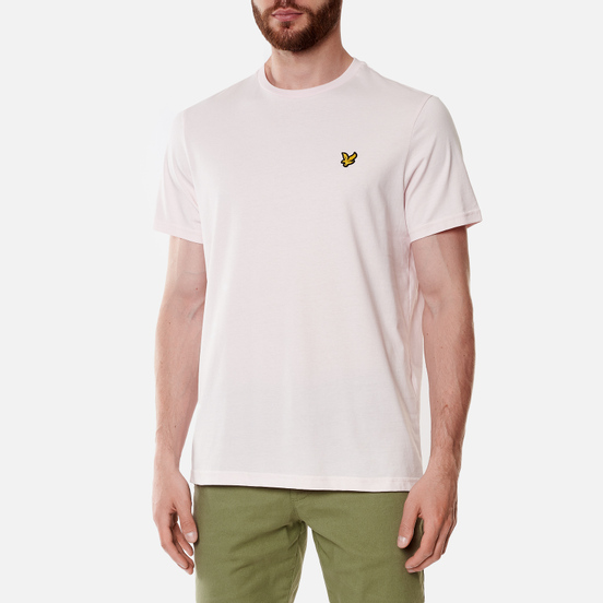 Мужская футболка Lyle & Scott Plain Regular Fit Stonewash Pink