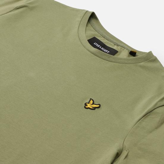 Мужская футболка Lyle & Scott Plain Regular Fit Moss