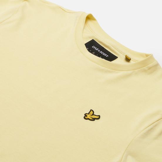 Мужская футболка Lyle & Scott Plain Regular Fit Lemon