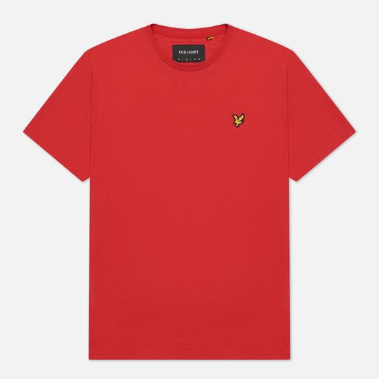 Мужская футболка Lyle & Scott Plain Regular Fit Gala Red