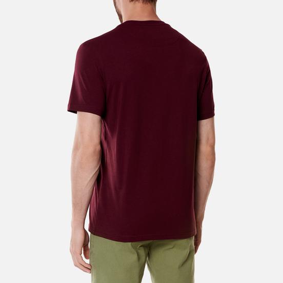 Мужская футболка Lyle & Scott Plain Regular Fit Merlot