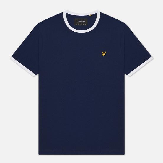 Мужская футболка Lyle & Scott Ringer Navy/White