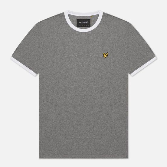 Мужская футболка Lyle & Scott Ringer Mid Grey Marl/White