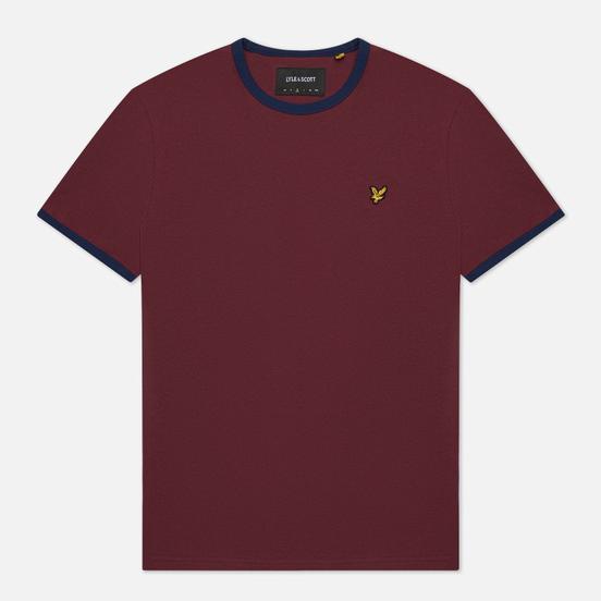 Мужская футболка Lyle & Scott Ringer Merlot/Navy