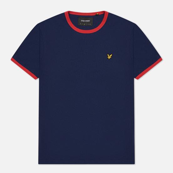 Мужская футболка Lyle & Scott Ringer Navy/Gala Red
