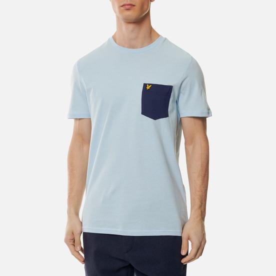 Мужская футболка Lyle & Scott Contrast Pocket Pastel Blue/Navy