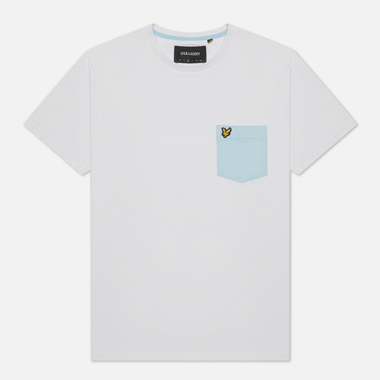 Мужская футболка Lyle & Scott Contrast Pocket White/Deck Blue