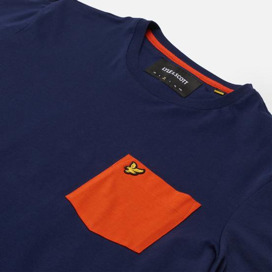 Мужская футболка Lyle & Scott Contrast Pocket Navy/Burnt Orange