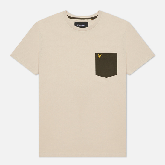 Мужская футболка Lyle & Scott Contrast Pocket Sesame/Trek Green