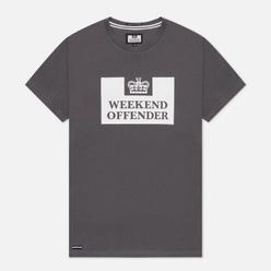 Мужская футболка Weekend Offender Prison AW21 Dark Charcoal