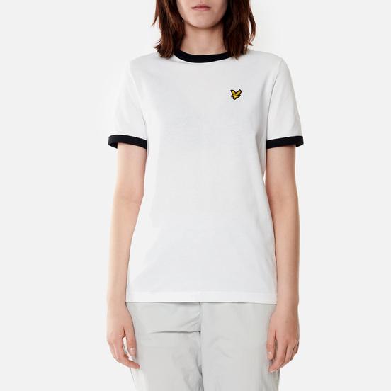 Женская футболка Lyle & Scott Ringer White