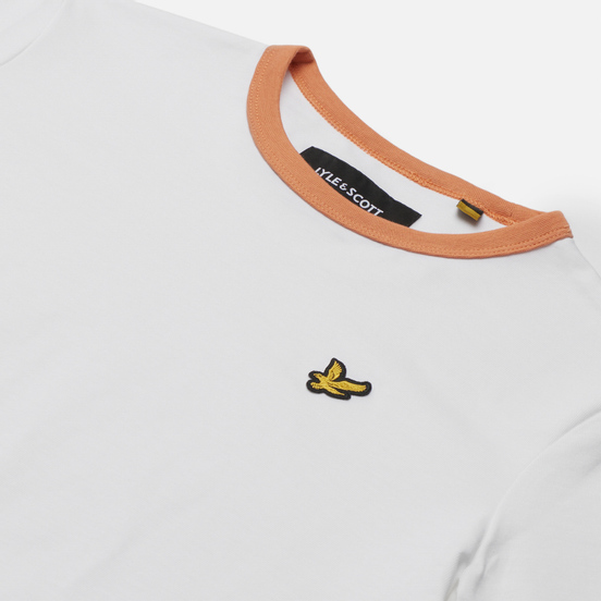 Женская футболка Lyle & Scott Ringer White/Dusk Orange