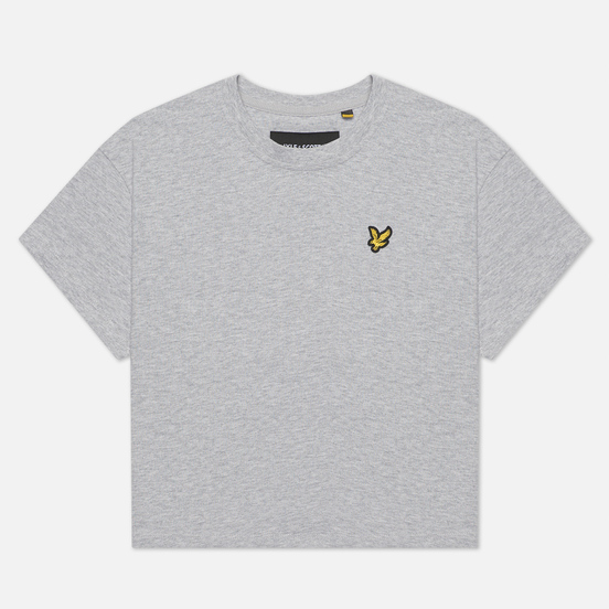 Женская футболка Lyle & Scott Cropped Light Grey Marl