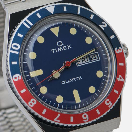 Наручные часы Timex Q Timex Reissue Silver/Navy/Red/Navy