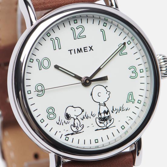 Наручные часы Timex x Peanuts Standard Brown/Silver/White