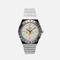 Наручные часы Timex x Coca-Cola Q Diver Stainless Steel/Cream