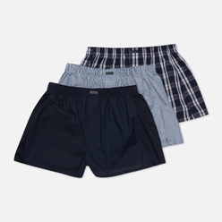 Комплект мужских трусов Calvin Klein Underwear 3-Pack Boxer Woven Tide/Morgan Plaid/Montague Stripe