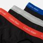 Комплект мужских трусов Calvin Klein Underwear 3-Pack Hip Brief Black/Blue/Grey/Red фото - 1
