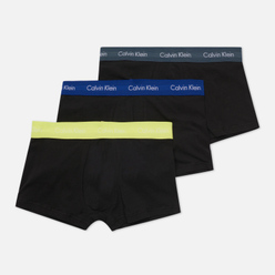 Комплект мужских трусов Calvin Klein Underwear 3-Pack Low Rise Trunk Black/Purple/Yellow/Black