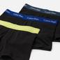 Комплект мужских трусов Calvin Klein Underwear 3-Pack Low Rise Trunk Black/Purple/Yellow/Black фото - 1