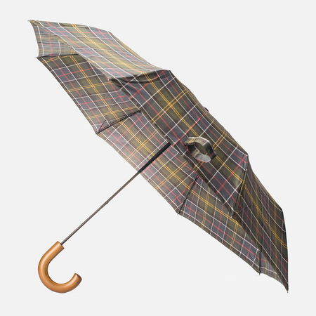 Зонт складной Barbour Tartan Telescopic Olive/Green