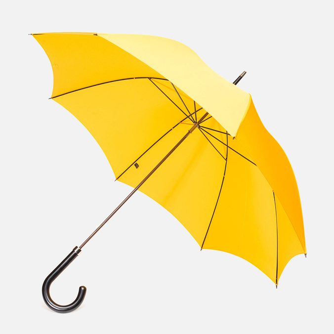 Fox Umbrellas GT2 Black Matt Handle Umbrella Yellow