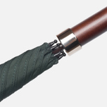 Зонт-трость Fox Umbrellas GT2 Dark Brown Matt Handle Dark Green фото- 3